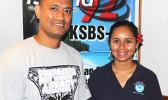 Salu Hans Malala and Dora Meredith were at the KSBS-FM studio