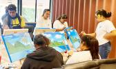 ASG Summer Youth Employment Program participants at DOC painting