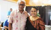 Former Commerce director Fuiavaili'ili Keniseli Lafaele (left) and new DOC director Petti Tagipo Matila