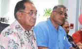 LBJ Medical Center Chief Executive Officer, Faumuina John Faumuina (left) and Health director Motusa Tuileama Nua (right)