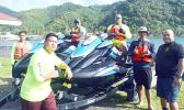 Members of the Marine Patrole with new jet skis