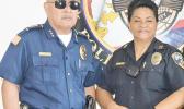 New Warden Commander Falana'ipupu Taase Sagapolutele and the new Chief of Police, Major Pouu'amea Tuaolo-Supapo