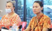 Fara Utu (left) and DoH Pharmacist, Dr. Francine Amoa