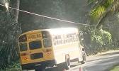 Bus on road in Alega