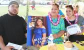 [l-r] Pita 'Pete' Tanielu, with his mother, Sapapali'i and sister, Edwina last Saturday at Lions Park