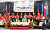 Representatives who signed the Pacer Plus trade agreement in Tonga [Photo: Pacific Islands Forum Secretariat]