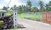Gate to Tafa'igata Prison in Samoa