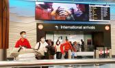 Passengers arriving through International gate