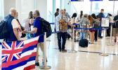 Line of travels at Safe Travel desk