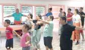 Kids exercising