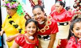 Tongan dancers ready to go on stage