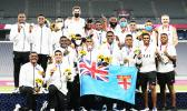 Fiji players and team staff