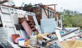 Destroyed house in Vanua Levu Fiji