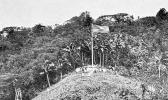 Flag raising on Sogelau Hill in Fagatogo, April 17, 1900