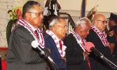 Dignataries (including Gov. Lolo) at the opening of Third Regular Session of the 36th Legislature
