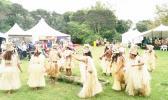Traditional Tahitian dancing at the Tahiti village at Pasifika Festival 2017. [Photo: RNZ/ Koroi Hawkins]