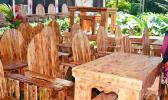 Display of furniture amazingly made from wooden pallets