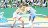Daniel Misaalefua in his Bronze Medal Match (Photo: Terry Custodio Auva'a)