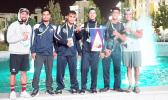 Team American Samoa at the 5th AIMAG in Ashgabat, Turkmenistan Isaac S, Iafeta V., Nolan P, Daniel M, Sealiitu M, Pita F, after their final matches. Sadly American Samoa lost out on bronze medals in wrestling but were able to place American Samoa in 5th place in their respective weight categories in wrestling. (Photo:Terry Custodio Auva'a)