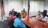 Gov. Lemanu Peleti Palepoi Sialega Mauga, Lt. Gov.Talauega Eleasalo Va'alele Ale and COVID-19 task force members