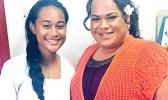 Grace Uso (left) and her teacher, Eden Brown