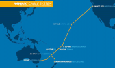 Map of the Hawaiki Cable System