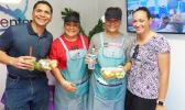 Will and Sisi Spitzenberg treated those who attended opening to a special menu of nutritious goodies