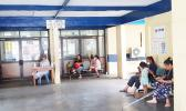A hospital waiting room in Apia.