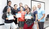 Recent graduates of the RISE Internet Work Academy