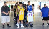 ASHSAA basketball players honoring Kobe Bryant