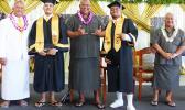 Gov. Lemanu and others at VocTech graduation
