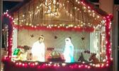 The manger in front of Sts. Peter and Paul Catholic Church
