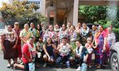 Lauli'i Elementary Schoo 8th grade class outside Samoa News building