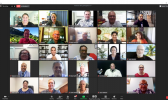 Some of the participants in last Thursday's virtual meeting