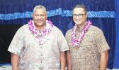 Gov. Lemanu and Lt. Gov. Talauega