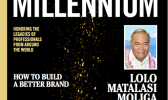 """front cover of the """"Millennium, a Marquis Who's Who Magazine"""""""