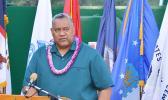 Lt. Gov. Lemanu Sialega Palepoi Mauga, who is acting governor