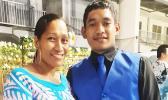 Ms Leata with her son Alofa Seumanu