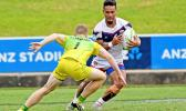Talavalu ball possesion in their 66-0 loss to Australia