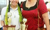Mrs. Wanda Alofa and her daughter Aitulagi, following the awards ceremony for the Territorial Math Competition held last Friday. Wanda and her husband Papalii donated all the monetary prizes for the winners. Their daughter Aitulagi took home first place for the Grade 10 Division.  Gift certificates and other items were donated by National Pacific Insurance, Bluesky Communications, ASTCA, Manu'a Stores, ASPA, Neil's ACE Home Center, Happy World, McConnell Dowell, Mrs. Park, and Shikha Sreenivasan. [photo: Bl