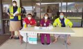 Measles screening  group at Pago Pago International Airport.