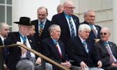 Medal of Honor recipients await the start of a ceremony at Arlington National Cemetery on Medal of Honor Day, March 25, 2019.