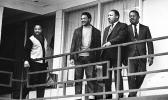 From left are Hosea Williams, Jesse Jackson, King, and Ralph Abernathy.
