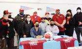 Mageo Twins official Signing Day yesterday morning with family