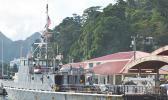 MV Pago Pago at the dock in Pago Harbor