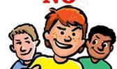 Just say no to smoking logo