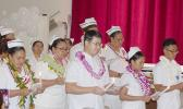 "Seen in this Samoa News photo is the portion of the program with the ""Lighting of Candles & Pledge"" for the graduates, who will march tomorrow during the 73rd ASCC Graduation ceremony at the college campus."