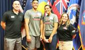 (l-r) SFC Steve Mann, Fotuatua Afioae, Tauaitala Leasiolagi, and MSG Sheri Hoddle.