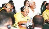 Pacific Forum chairman, Fiji's prime minister Frank Bainimara and others