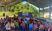 Participants at opening ceremoney of Summer Youth Program